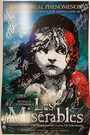 <em>Les Miserables</em> Signed Poster Image
