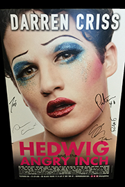 <em>Hedwig and the Angry Inch</em> Signed Poster by Darren Criss Image