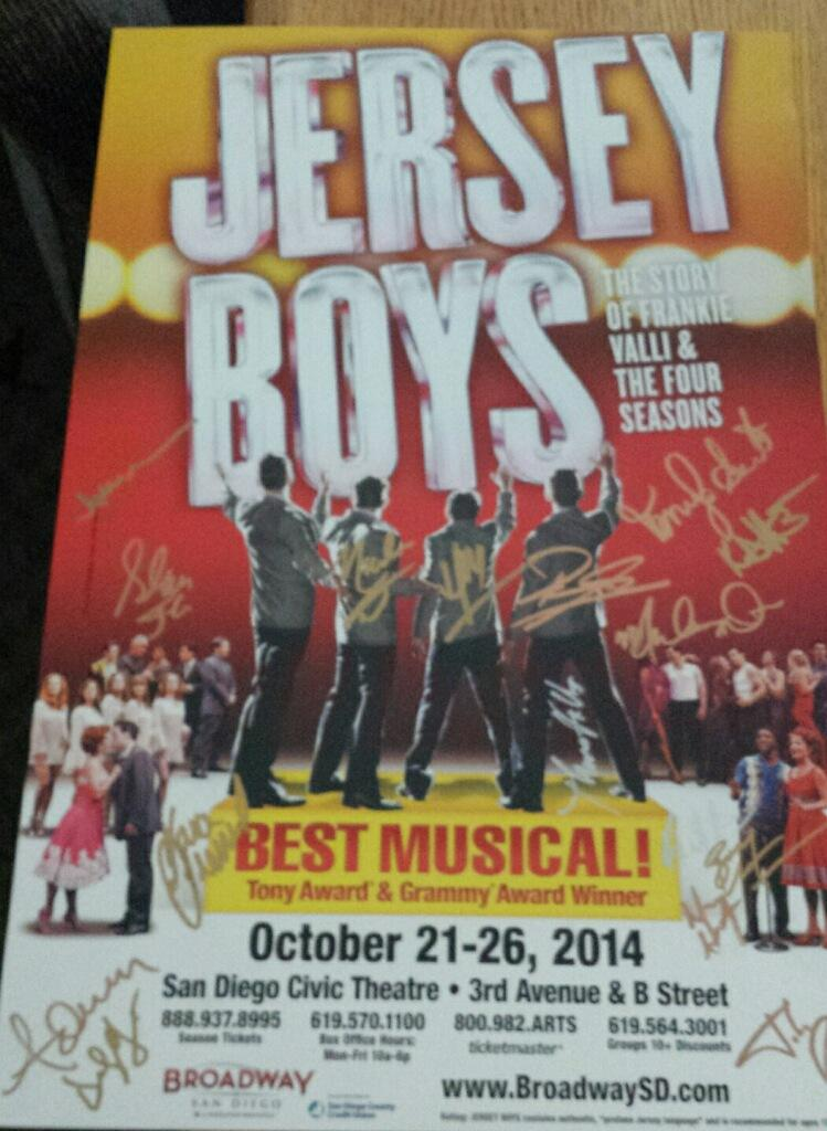 Jersey Boys Signed Poster Image