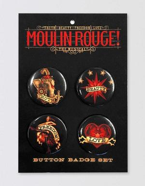 Moulin Rouge! The Musical Button Badge Set Image