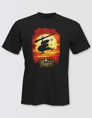 Miss Saigon Unisex Black Logo T-Shirt Image