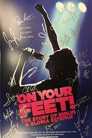 <em>On Your Feet!</em> Signed Poster Image
