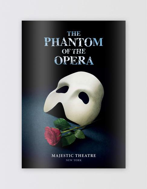 The Phantom of the Opera Broadway Souvenir Program Book Image