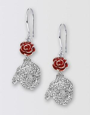 The Phantom of the Opera Broadway Diamante Earrings Image