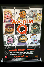 <em>Avenue Q</em> Signed Poster Image